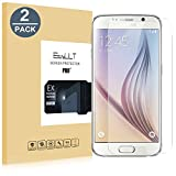 [2 Pack]Samsung Galaxy S6 verre trempé,EasyULT Samsung Galaxy S6 Verre Trempé Protecteur d'écran Protection Résistant aux éraflures Glass Screen Protector Vitre Tempered(0,26mm HD Ultra transparent)