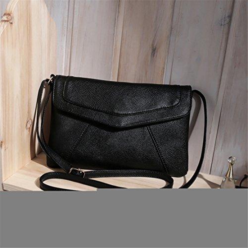 Kafe Taschen Loveso Damen Mädchen Damenmode Schulter Beutel PU-Leder Mini Handtasche Schulranzen UmhäNgetasche (Schwarz) Schwarz