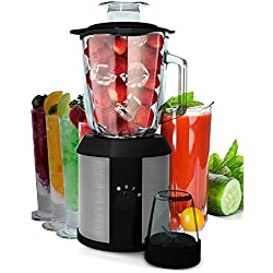 1.500 Watt 2in1 Glas Edelstahl Standmixer | Smoothie Maker | + Kaffeemühle | Zerkleinerer | Ice Crusher | Universal Power Mixer | Shaker | Metallmesser | 1,3 Liter | 2 Geschwindigkeitsstufen