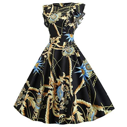 Go First Robes De Femmes Robes De Soirée De Bal D'étudiants Robes Vintage des Années 1950 Swing Stretchy Dresses (Color : Vert, Size : L)