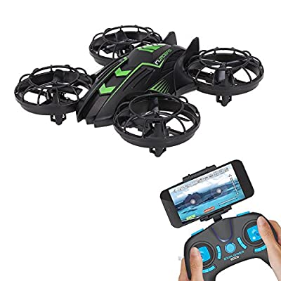 Mini Drone with WIFI 0.3MP Camera 2.4G RC Aircraft Plane Warcraft FPV Altitude Hold Headless Mode RC Quadcopter UFO Helicopter Built-in USB Battery for JXD 515W