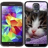 DesignedByIndependentArtists Funda para Samsung Galaxy S5 (SM-G900) - Gatito Gato del Bebé by Wonderfuldreampicture