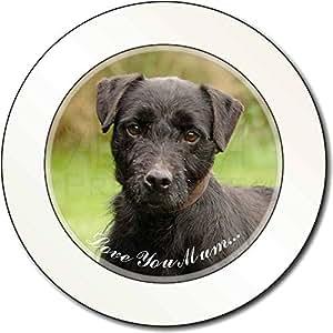 Fell -Terrier-Hund 'Love You Mum' AutovignetteGenehmigungsinhaber Geschenk