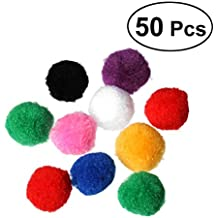 Pompon per artigianato UEETEK Pom pom per mestiere forniture fai da te  colorati di 4 cm 25450b6690f7