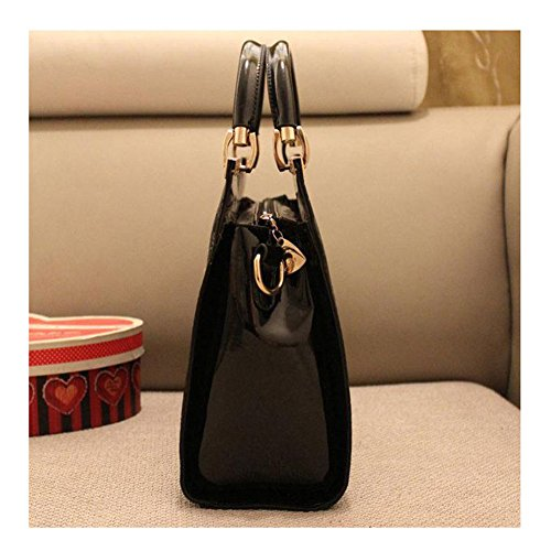 Emotionlin Fashion Designer Tote Bags Qualità Delle Donne Alla Moda Di Vendita Caldo Borse Large Size Shoulder Bags(Black) Rose
