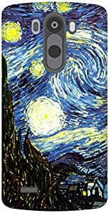 The Racoon Grip The Starry Night hard plastic printed back case / cover for LG G3