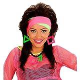 Amakando Neon-Stirnband 80er Haarband Aerobic Outfit Zubehör schrilles Klapsband Fitness Kostüm Accessoire Damenkostüm Zubehör