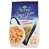 Riso Scotti Pasta Riso con Quinoa e Amaranto, Fusilli - 250 g, Senza glutine