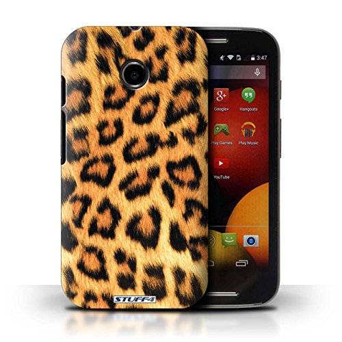 Kobalt® Imprimé Etui / Coque pour Motorola Moto E (2014) / Tigre conception / Série Motif Fourrure Animale Léopard