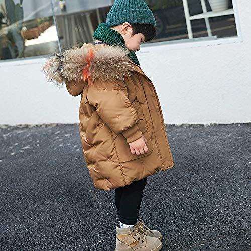 FDSAD Warme Jacke Im Freien Baby Outdoor Warme Jacke Neue Kinder Jungen Und Mädchen Langen Abschnitt Dicke Kinderbekleidung Jacke Geeignet Für Höhe 110Cm Schokolade