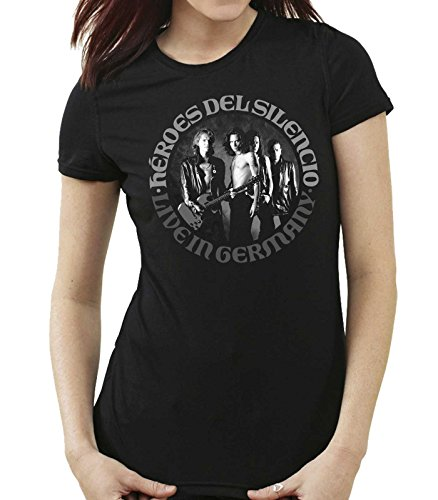 35mm - Camiseta Mujer - Heroes Del Silencio - Live In Germany - Women'S T-Shirt, NEGRA, L