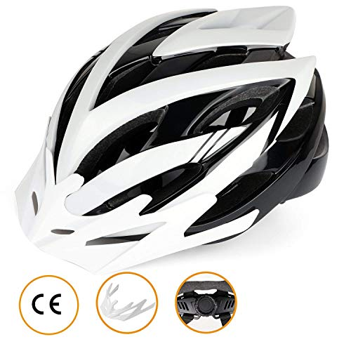 Cycle Helmet,CE Certified,Bike Helmet with Detachable Visor Shield Road Bicycle Helmet for Man and Woman Adjustable Adult Safety Protection