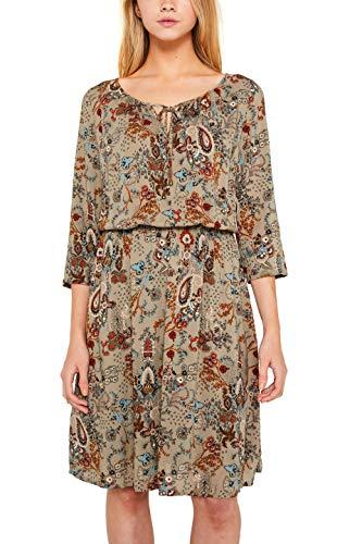 edc by ESPRIT Damen 089Cc1E021 Kleid, Beige (Pale Khaki 265), (Herstellergröße: 40)