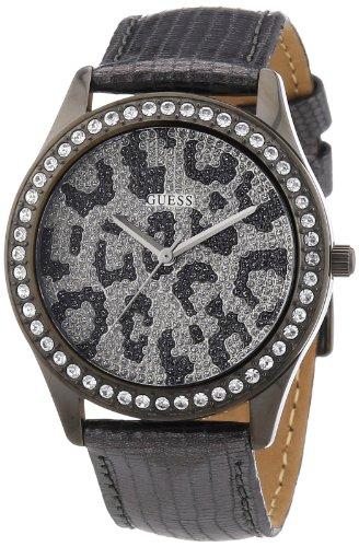 Guess W10239L1 - Reloj analógico de mujer de cuarzo con correa de piel plateada