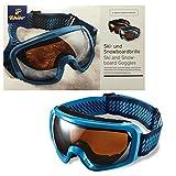 Skibrille Snowboardbrille Blau Wintersport Brille Schneebrille 100% UV Schutz