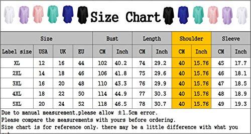 iBaste Plus Size Blusen Damen Lockere Shirt V-Ausschnitt 3/4 Arm Shirt Damen Oberteil mit Spitze Shirt Übergrößen Schwarz