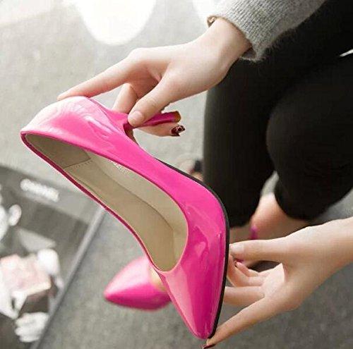 Shallow Mund High Heels Damen Hochzeit Schuhe Rot