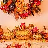 Herbst Dekoration Ahornblatt, Muscccm 400 Stück Verschiedene gemischte Herbst farbige künstliche Ahornblätter für Hochzeiten, Thanksgiving, Veranstaltungen und Outdoor Maple Leaf Cafe Dekoration - 2