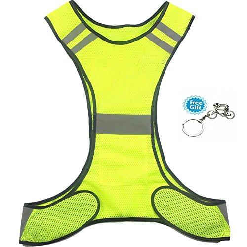 Preisvergleich Produktbild Warnweste West Biking Hohe Sichtbarkeit Sports Gear mit Pocket für Nacht Laufen Radfahren dog-walking Motorrad, Kinder, grün