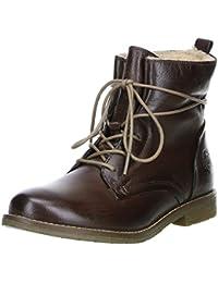 Klondike Damen Winterstiefel Stiefeletten Boots Warmfutter braun