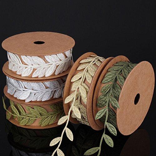 Sharplace Jahrgang Satin Blatt Blätter Weinrebe Girlanden Bandordnung Näh-Handwerks - Dunkelgrün Blätter