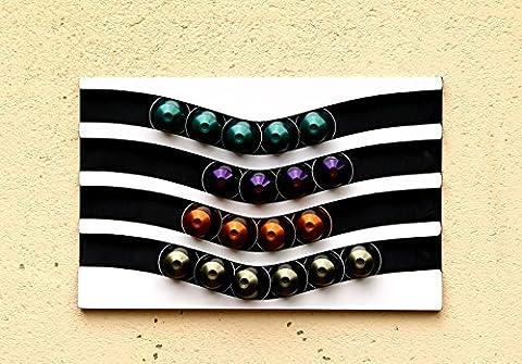 range capsules nespresso 40 horizontale (blanc/noir)