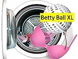 Betty Ball XL. Vergessen Sie das Wäschenetz Der Betty Ball Waschkugel BH Wäscheschutz ist die Lösung für diejenigen die lhren (Schalen) BH in guter Form behalten möchten und gleichzeitig die Bequemlichkeit von der Waschmaschine benutzen wollen. Jetzt auch entwickelt für BHs mit Cupgrösse D bis F!