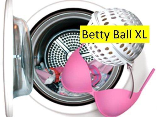 Betty Ball XL. Vergessen Sie das Wäschenetz Der Betty Ball Waschkugel BH Wäscheschutz ist die Lösung für diejenigen die lhren (Schalen) BH in guter Form behalten möchten und gleichzeitig die Bequemlichkeit von der Waschmaschine benutzen wollen. Jetzt auch entwickelt für BHs mit Cupgrösse D bis F! -