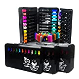 BXT Kids Drawing Painting Graffiti Colouring Pens Drawing Markers Artist Multi Color Pen Watercolor Pens with Round Tip for Kids 36 Assorted Colors Black
