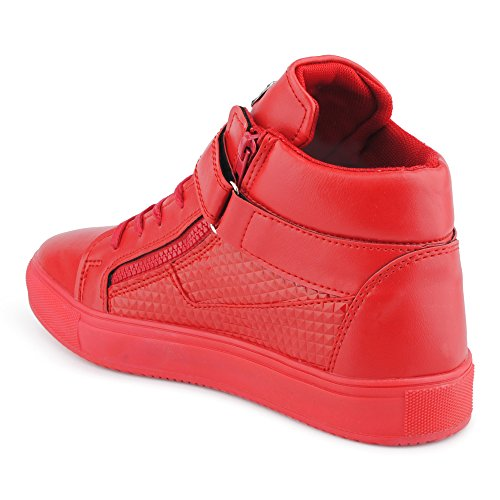 Sneakers rosse con cerniera per unisex SOgDloB0