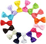 15pcs/lot boutique baby girls kids ribbon bow satin alligator clip hair bow pin baby hair accessories