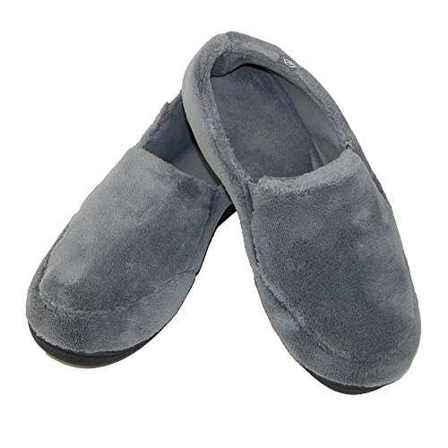 Microterry Memory Foam Totes Isotoner Hommes Indoor / Outdoor Slip-On chaussons