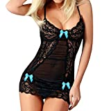 BURFLY® Women Sexy Dress Lingerie, Ladies Lace Hollow Out See Through Underwear with Bow,Fashion Racy Spice Suit Temptation Underwear Erotic Baby Doll Lingerie Nightwear