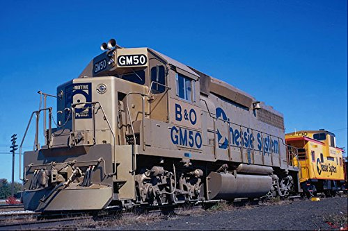 788092 Chessie System B & O EMD GP 40 In EMD 50th Anniversary Paint A4 Photo Poster Print 10x8 (System Chessie)
