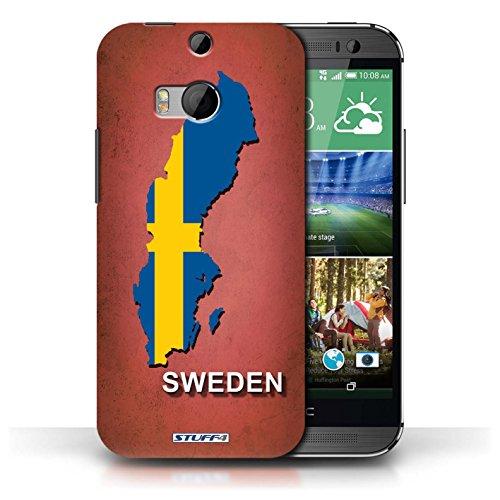 Coque de Stuff4 / Coque pour HTC One/1 M8 / Ecosse/écossaise Design / Drapeau Pays Collection Suède/Suédois