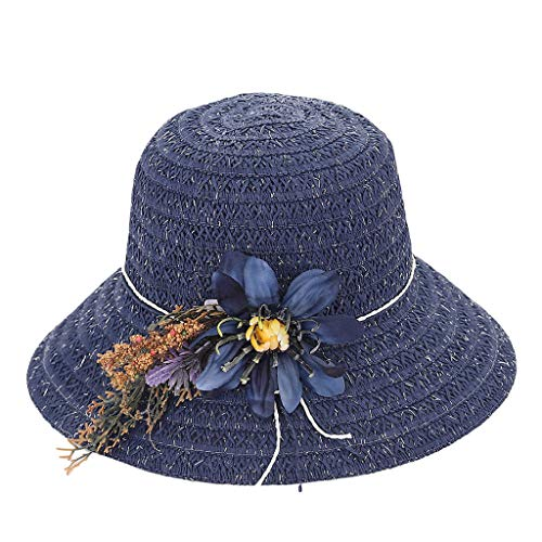 ToDIDAF ZH02 Kentucky Derby Hat for Women, Organza Church Dress, Bowler Hat, Sun Hat, Wedding Hat, Fascinator Bridal Tea Party Shopping Formal Occassion Outdoor Activities, 55-60CM (Navy) Old Navy Bow Tie