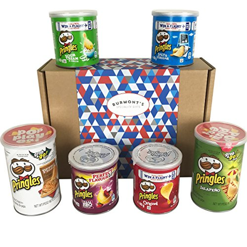 The Ultimate Pringles Crisps Selection Hamper Gift Box - Includes Pizza, Texas BBQ, Jalapeño & More...