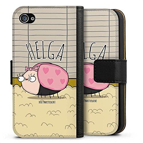 Apple iPhone X Silikon Hülle Case Schutzhülle DirtyWhitePaint Fanartikel Merchandise Helga Sideflip Tasche schwarz
