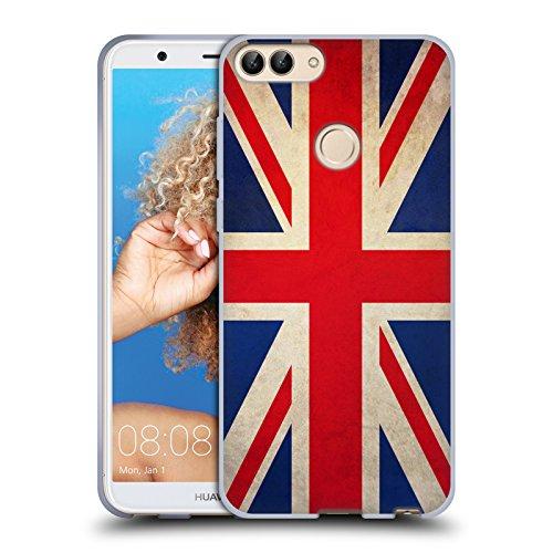 Head Case Designs Grossbritannien Britisch Vintage Fahnen Soft Gel Hülle für Huawei P Smart/Enjoy 7S - Britische Vintage-print