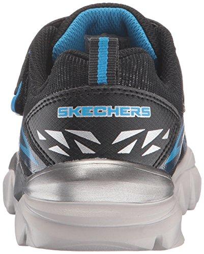 Skechers Electronz Blazar, Baskets Basses Garçon Noir (Bknv)