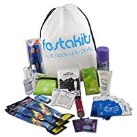 Festakits Essentials - 60 Piece Festival Kit, Camping Survival Kit - All Your Festival Essentials 16