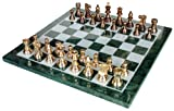 """StonKraft 15"""" X 15"""" Collectible Marble Chess Game Board Set Brass Crafted Pieces (Delivery < 7 Days)"""