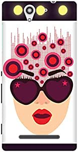 The Racoon Lean printed designer hard back mobile phone case cover for Sony Xperia C3. (Inside her)