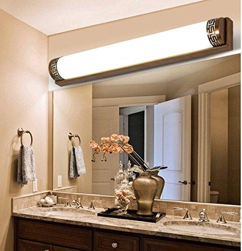 Im Europäischen Stil Retro Spiegel Spiegel Leuchte Lampe Wandleuchte Badezimmerschrank Badezimmer Chinesische Lampe Led-Make-Up-Lampe, Messing 60Cmled Warmweiß 18W (Make-up-spiegel-leuchten)