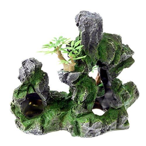 rock-cave-17x-10x-16cm-aquarium-ornament-decoration-fish-tank-stone-mountain-view-resin