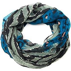 Loop–Bufanda/Braga leopardo en diferentes colores, de gran calidad de zarolo 9(dunkelblau) Medium