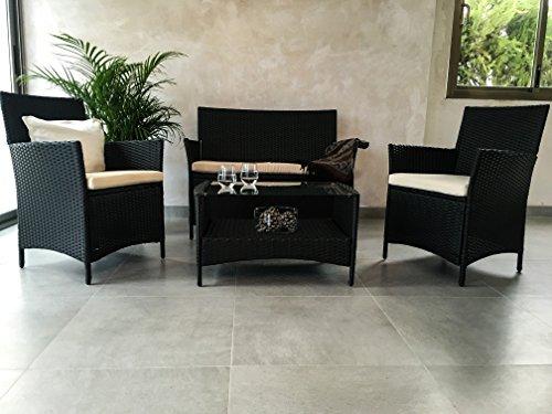 KieferGarden Washington Conjunto muebles de jardín y exterior en Ratán Sintético