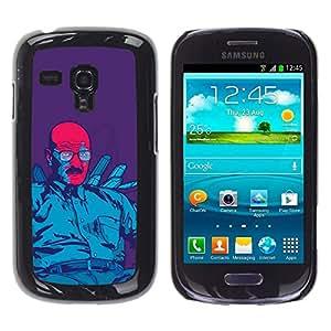 Rubber Gehäuse Hülle Schutz Case Cover Zubehör BY RAYDREAMMM - Samsung Galaxy S3 MINI 8190 - Blau Meth König