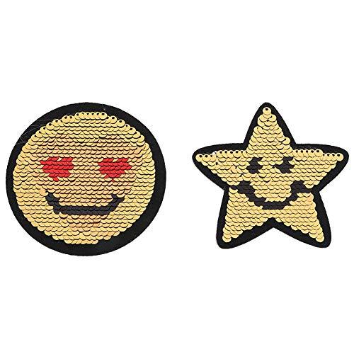 DIY gestickter Flecken, Lächeln-Gesichts-Dekorations-Stoff-Eisen nähen Aufkleber-Applikations-Handwerks-Zusätze
