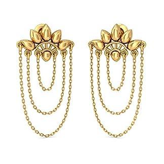 BlueStone 22k (916) Yellow Gold Desirous Charm Drop Earrings for Women